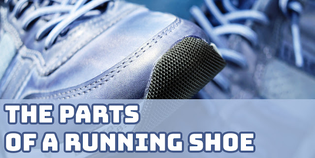 The Parts of a Running Shoe Banner
