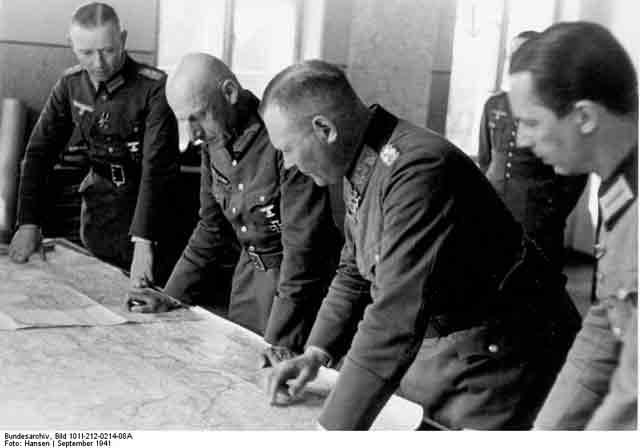 Field Marshal Ritter Wilhelm von Leeb and Generaloberst Erich Hoepner 26 September 1941 worldwartwo.filminspector.com