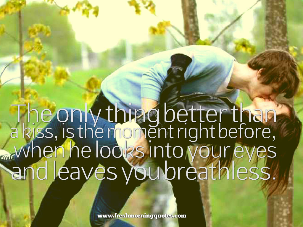 when he looks into your eyes-romantic good morning kiss images quotes