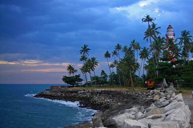 Thangassery Beach in Kerala