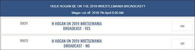 Hulk Hogan To Appear At WrestleMania 35 Betting