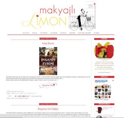 Makyajlı Limon - Blog Şablon Tasarımı