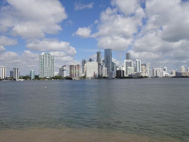 Vista de los rascacielos de Miami