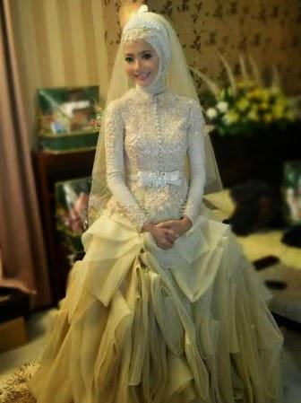 Baju kebaya pengantin muslim yang moderen