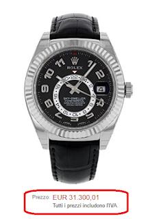 Rolex Ostrica Perpetual sky-dweller 326139 18 K oro bianco a
