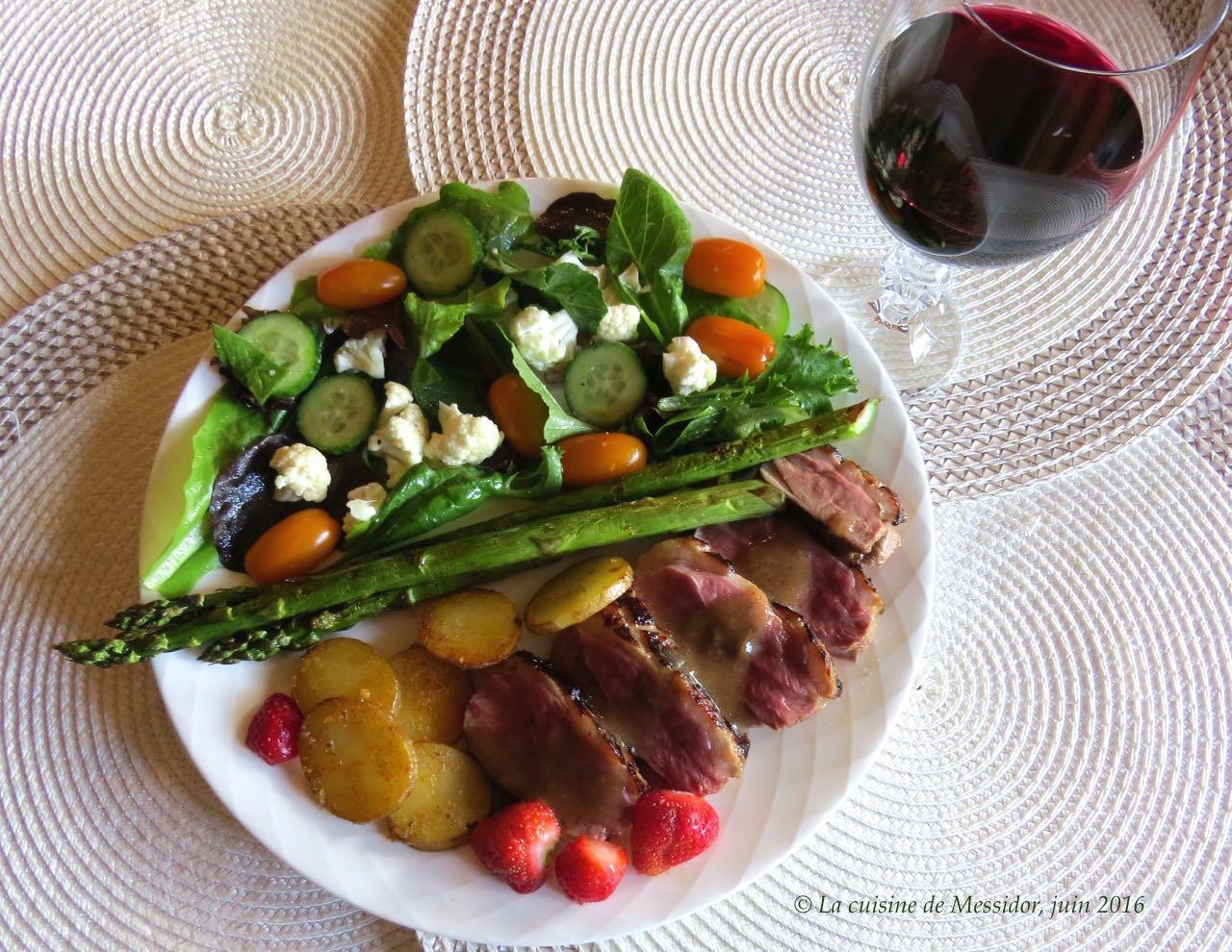 La cuisine de messidor magret de canard grill sauce au - Cuisson magret de canard ...