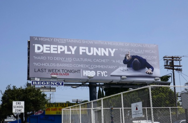 Last Week Tonight John Oliver 2018 Emmy FYC billboard
