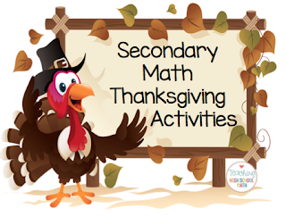 teaching high school math fun thanksgiving activities for secondary middle and high school. Black Bedroom Furniture Sets. Home Design Ideas