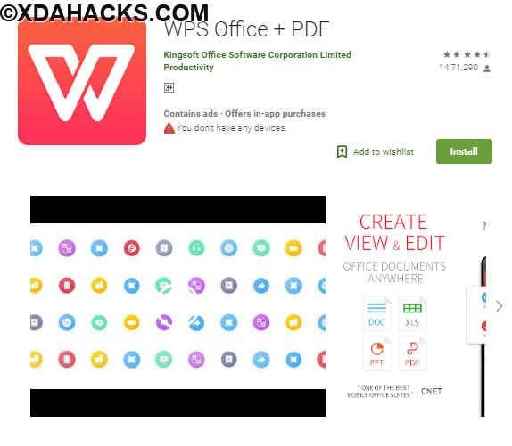 WPS Office - Word, Docs, PDF, Note, Slide & Sheet v10.9.6 [Mod].apk