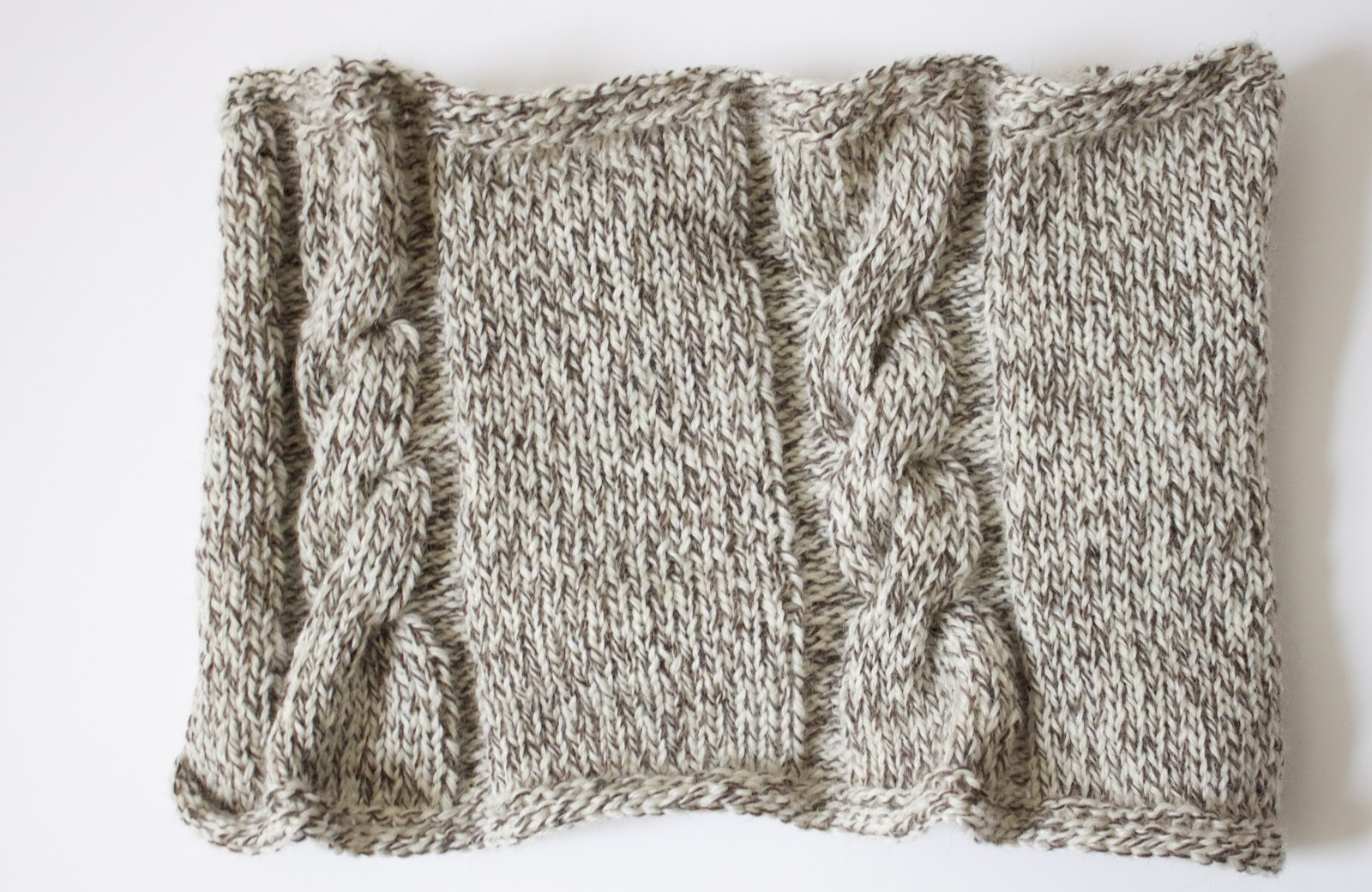 Handmade by Meg K: Cabled Cowl Knitting Pattern