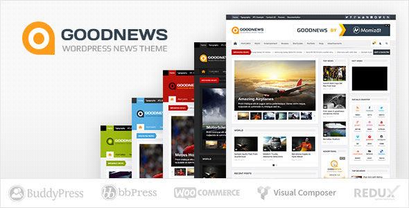 GOODNEWS V5.9 – RESPONSIVE WORDPRESS NEWS/MAGAZINE 2018