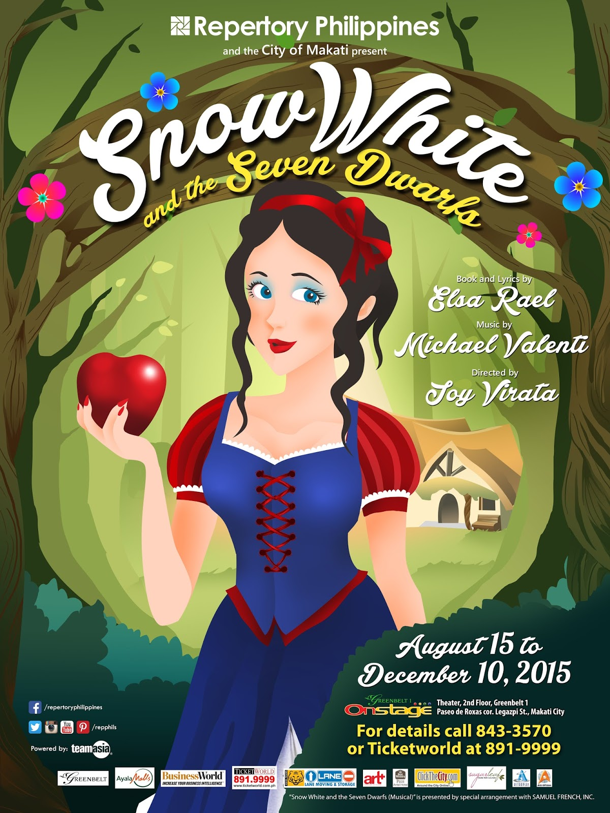 Repertory Philippines brings the classic story of Snow White and the