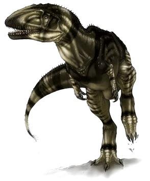 Imagen del Sinraptor en robot
