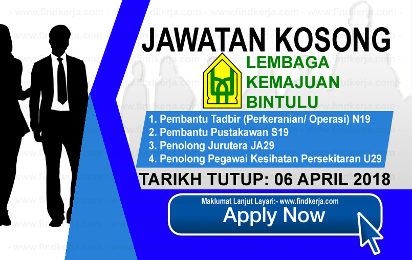 Jawatan Kerja Kosong BDA - Lembaga Kemajuan Bintulu logo www.findkerja.com april 2018