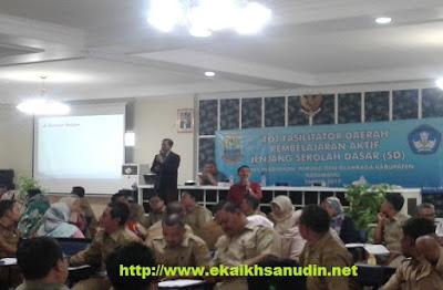 Kegiatan TOT Fasilitator Daerah Pembelajaran Aktif Guru SD di Karawang