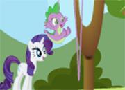 Spike Toss y Rarity