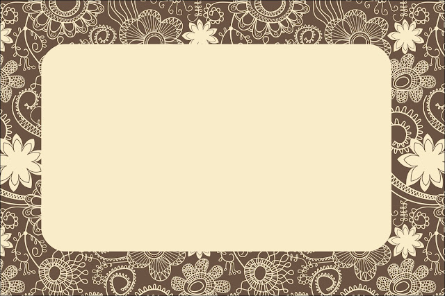 Flowery in Brown and Beige Free Printables Invitations Oh My Fiesta Wedding!