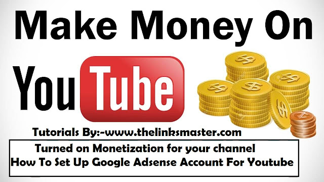 Earn money with YouTube How To Set Up Google Adsense Account For Youtube (From Start To Finish) ! Monetization Part 1 How to earn money from your videos - YouTube Help - Google Support