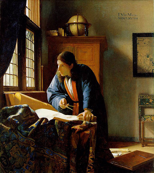 The Geographer - artista: Johannes Vermeer - Fonte: https://upload.wikimedia.org/wikipedia/commons/e/e9/The_Geographer.jpg