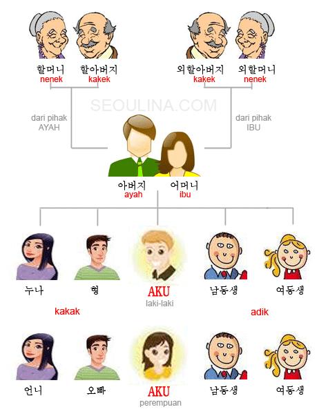 Bahasa Inggris Kakak Laki : bahasa, inggris, kakak, Bahasa, Korea, Silsilah, Keluarga, [Hal.21], SEOULINA.COM