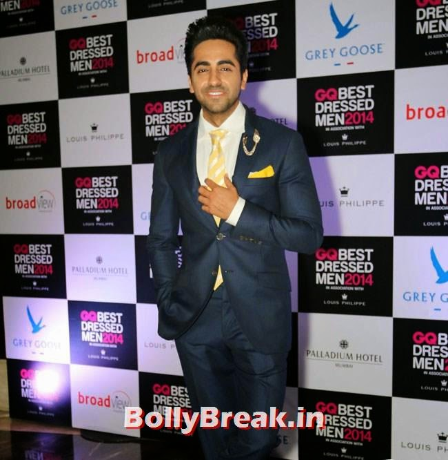 Ayushmann Khurrana, Evelyn, Kim, Nargis Sizzle at GQ Best Dressed Men 2014 Awards