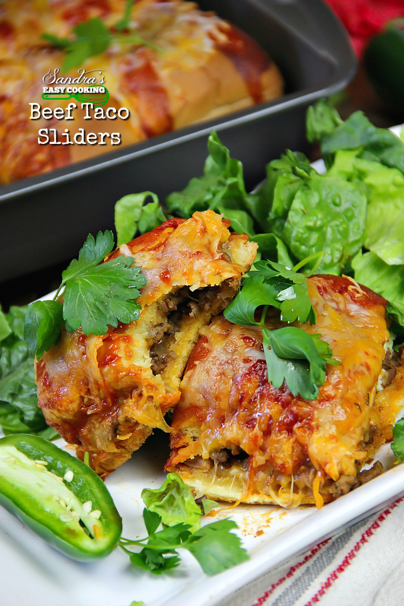 Beef Taco Sliders #recipe with #YouTube video