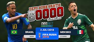 brasil vs meksiko piala dunia 2 juli 2018