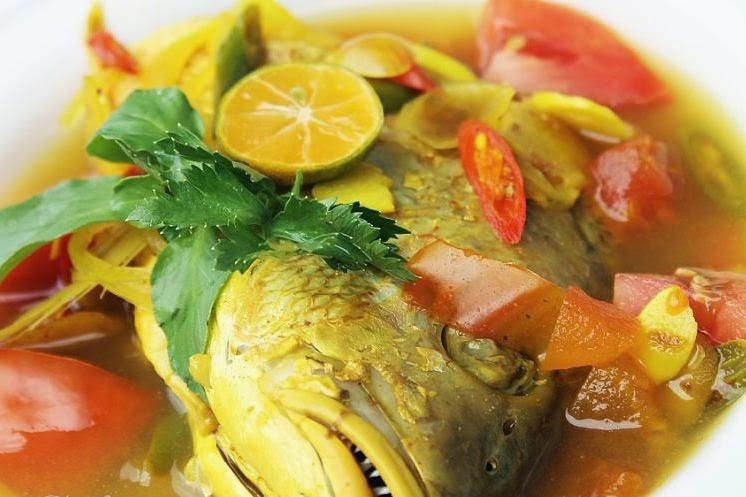 Image result for Sup Ikan kakap Pedas Sayuran