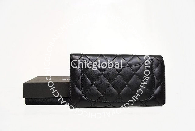 e00790a0ae9f6d Shiny Chanel signature is the mark of luxury. - Black quilted nappa  leather. - Classic flap closure design.