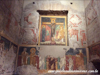 Santa Maria Antiqua capela teodoto Guia Roma Portugues - Igreja de Santa Maria Antiqua no Foro Romano