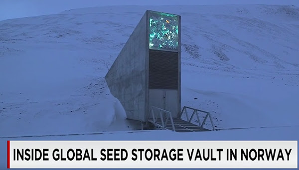 The entrance of the Doomsday Vault.