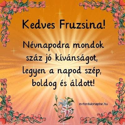 Fruzsina névnap - Január 1