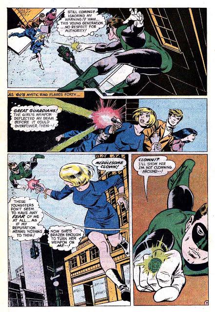 Green Lantern Green Arrow #69 dc comic book page art by Wally Wood