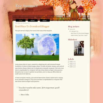 Bye Summer blogger template. blogger template from wordpress theme
