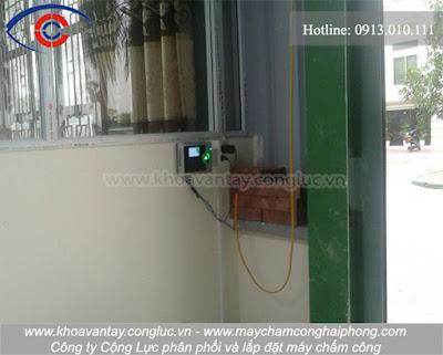 Hoàn thành lắp đặt và bàn giao máy chấm công tại KCN Đồng Hòa, Kiến An, Hải Phòng - công ty Hoàng Việt.