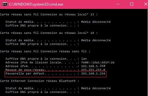 192.168.1.1 : l'IP pour accéder à son routeur et configurer sa connexion wifi 192.168-ll