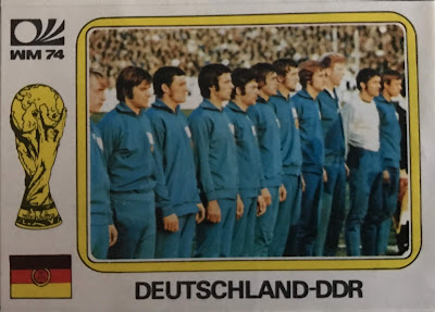Figurina squadra Germania Est
