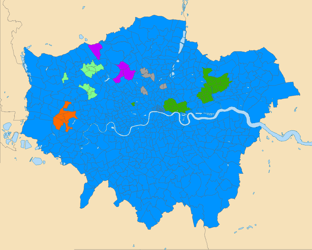 Map of London by Religion