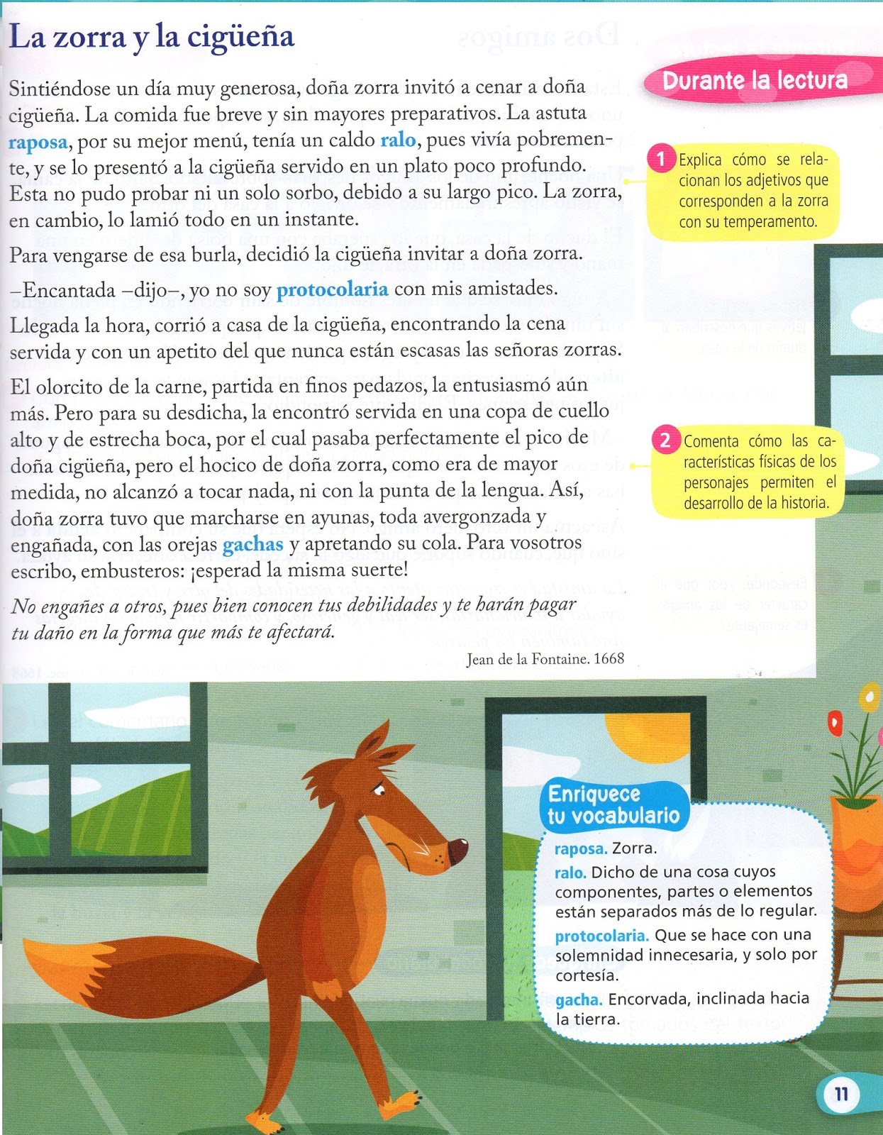 Exploradores del Saber: La zorra y a cigüeña