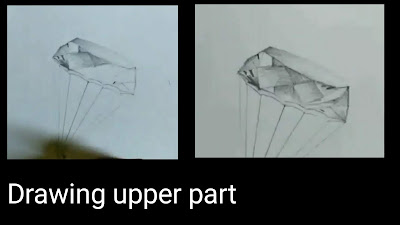Step by step tutorial for to draw diamond in 3d, drawing for kids,