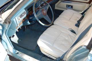 White 1976 Cadillac Fleetwood Brougham Interior