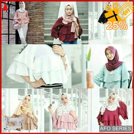 AFO058 Model Fashion Yukky ruffle Modis Murah BMGShop