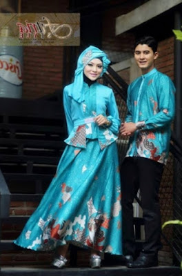 Model Baju Pesta Muslim Couple batik