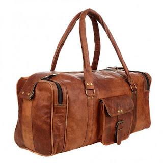 bolsa de viaje cuero