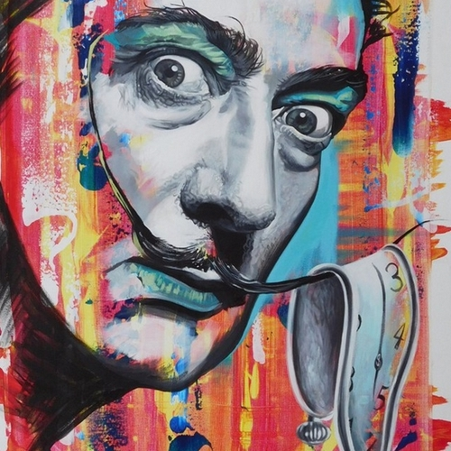 16-Salvador-Dali-Jonathan-Harris-Celebrity-Paintings-Images-and-Videos-www-designstack-co