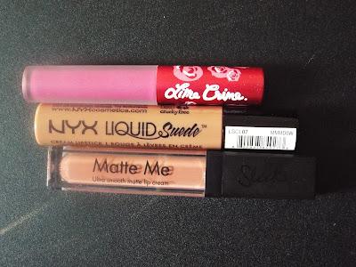 Rouge à lèvres liquides mates, velvetines, nyx liquid suede, mate me sleek