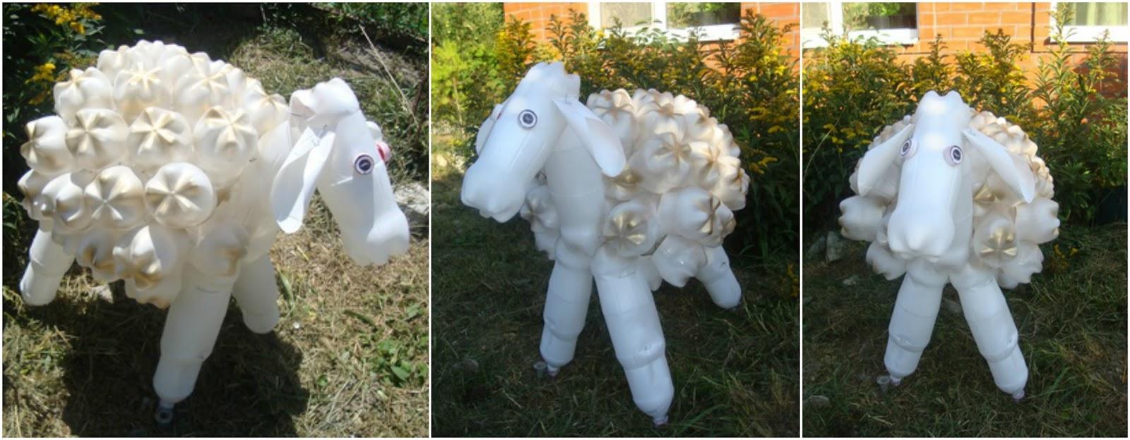 Aprende c mo hacer una oveja con botellas de pl stico - Como hacer una oveja ...