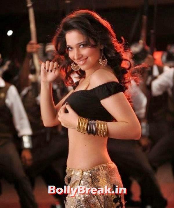Tamannaah Bhatia in Alludu Sreenu, Hot Stills from Item Songs of Telugu, Tamil South Indian Cinema