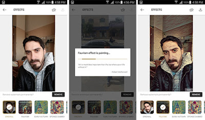 طريقة استخدام تطبيق GoArt لتحويل الصور للوحات فنية