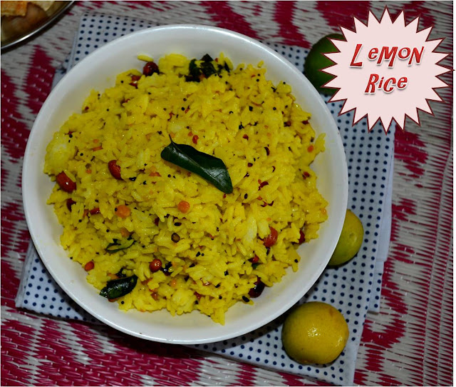 LEMON RICE RECIPE(ELUMICHAI SATHAM)- RICE MIXED WITH LEMON JUICE AND SPICES